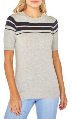 Dorothy Perkins Striped Short-Sleeve Sweater
