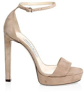 Jimmy Choo Women's Misty Suede Ankle-Strap Sandals