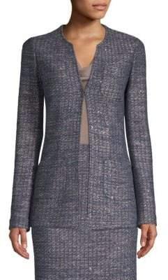 St. John Copper Sequn Tweed Knit Jacket