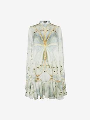 Alexander McQueen Glass Wing Ruffle Mini Dress