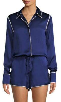 Alexis Lareyne Twist Silk Pajama Romper