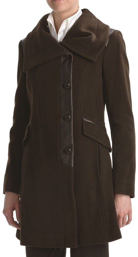Cole Haan Outerwear Wool-Cashmere Coat - Envelope Collar (For Women)
