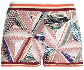 Missoni Patchwork-Effect Crochet-Knit Shorts