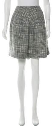 Marni Flared Tweed Skirt Grey Flared Tweed Skirt