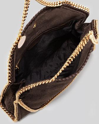 Stella McCartney Falabella Snake-Embossed Fold-Over Bag, Bronze