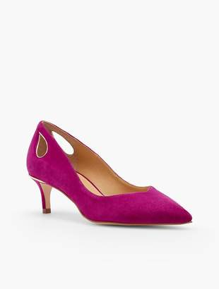 Talbots Erica Cut-Out Pumps - Kid Suede