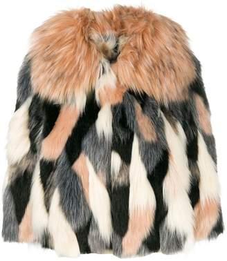 Elisabetta Franchi cropped faux fur jacket