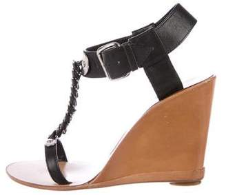 Sigerson Morrison Leather T-Strap Wedges