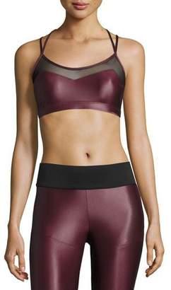 Koral Activewear Breaker Versatility Sports Bra, Wine/Black