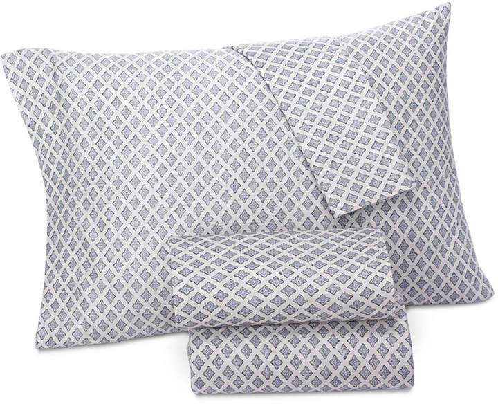 Brooke Navy King Pillowcases, Pair, Created for Macy's Bedding