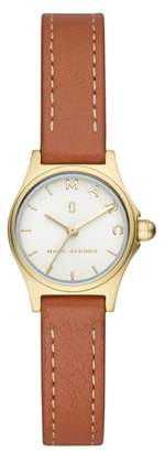 Marc Jacobs Henry Leather Strap Watch, 20mm