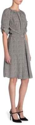 Giorgio Armani Silk Herringbone Dress