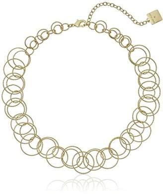 """Anne Klein Circle Around"""" -Tone Open Link Necklace"""
