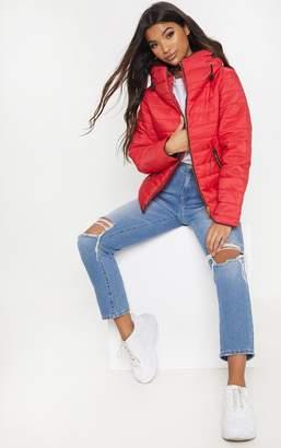 PrettyLittleThing Mara Grey Puffer Jacket