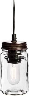 Casa Uno Vintage Square Mason Jar Pendant Light