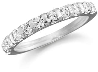 Platinum 1.00ct Bar Set Half Eternity Ring