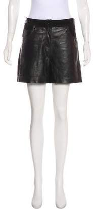 See by Chloe Leather High-Rise Shorts