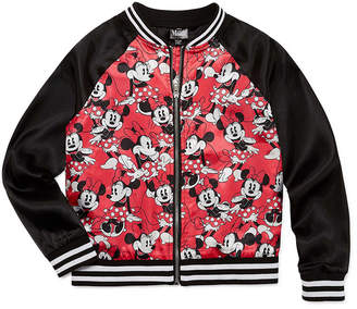 DISNEY MINNIE MOUSE Disney Girls Minnie Mouse Midweight Bomber Jacket