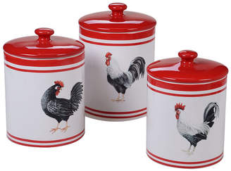 Certified International Homestead Rooster 3-Pc. Canister Set