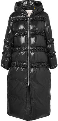 Noir Kei Ninomiya Moncler Genius - 6 Whipstitched Quilted Shell Down Coat - Black