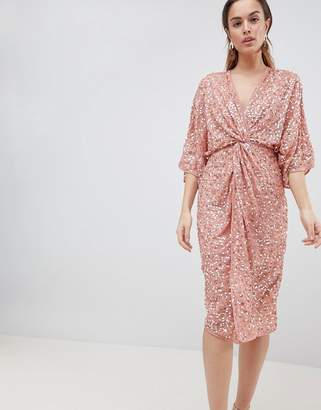 Asos DESIGN Midi Sequin Kimono Dress
