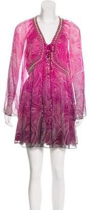 Diane von Furstenberg Embellished Ombré Dress