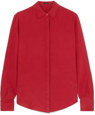 Joseph Edith Washed-silk Shirt - Crimson