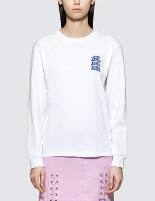 X-girl X Girl Riot Grrrl Long Sleeve T-shirt