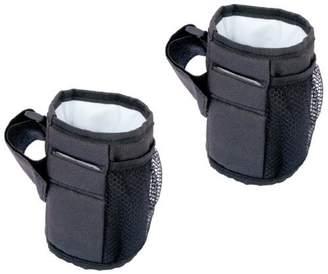J L Childress Cup 'N Stuff Stroller Pocket, Black - 2 Count