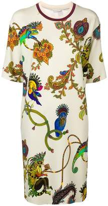 Etro tropical print shift dress
