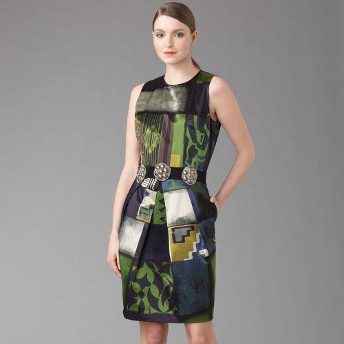 Etro Geo Block Print Sheath Dress