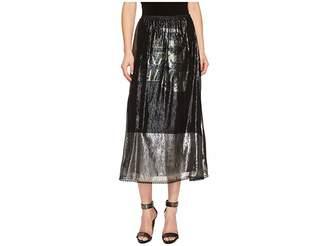 McQ Lurex Fluid Gather Skirt Women's Skirt