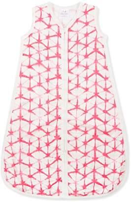 Aden Anais aden + anais silky soft sleeping bag, 1,0 TOG - berry shibori (12-18 months)