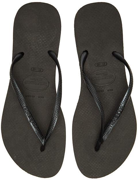 Havaianas Slim Flip Flop in Black. - size US 11/12/ BRZ 41-42 (also in )
