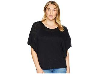 KARI LYN Plus Size Caroline Ruffle Sleeve Top