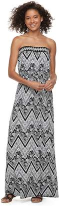 Trixxi Juniors' Strapless Maxi Dress
