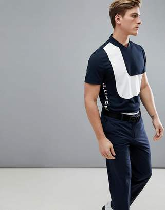 J. Lindeberg Roky Slim Fit TX Torque Polo Shirt In Navy
