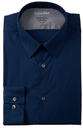 Calvin Klein South Beach Solid Extreme Slim Fit Dress Shirt