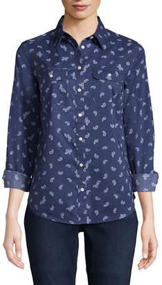 ST. JOHN'S BAY Long Sleeve Classic Shirt - Tall