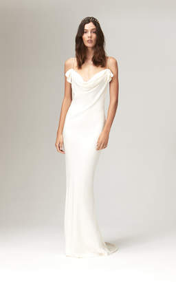 Chloé Savannah Miller Silk Bias Cut Cowl Neck Gown