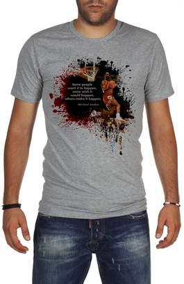 Michael Jordan Palalula Men's Basketball Tribute T-Shirt XXXL Grey
