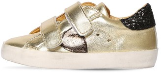 Philippe Model METALLIC LEATHER STRAP SNEAKERS