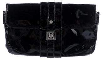 Lanvin Patent Leather Flap Clutch