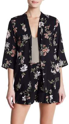 Angie Floral Open Front Blazer