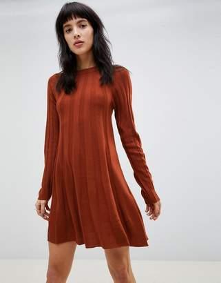 Asos Design DESIGN rib swing dress in knit