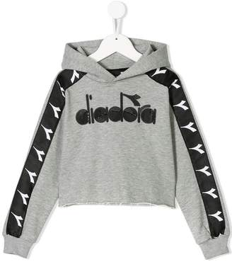 Diadora Junior logo patch branded hoodie