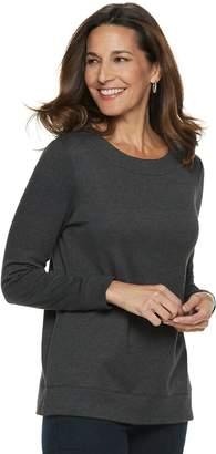 Croft & Barrow Women's Extra-Soft Crewneck Sweatshirt