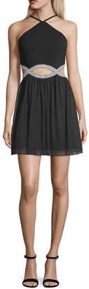 Speechless Sleeveless Embellished Party Dress-Juniors