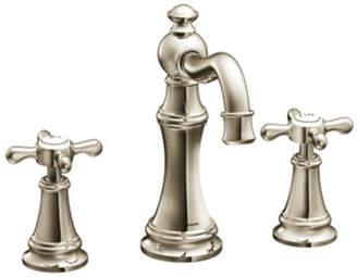 Moen Weymouth Widespread High Arc Bathroom Faucet with Optional Pop-Up Drain