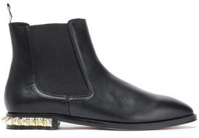 Stuart Weitzman Studzie Leather Ankle Boots